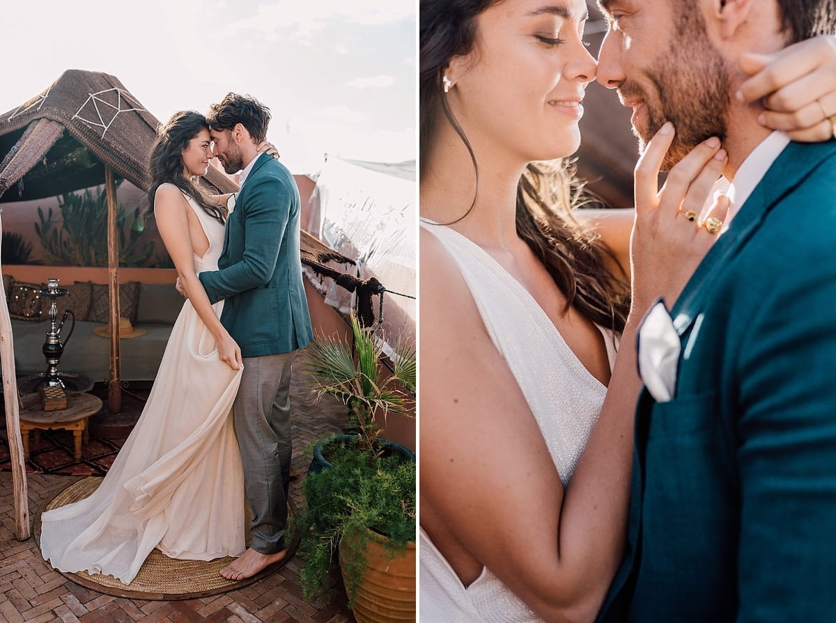 Elopement wedding Marrakech marriage Riad BE