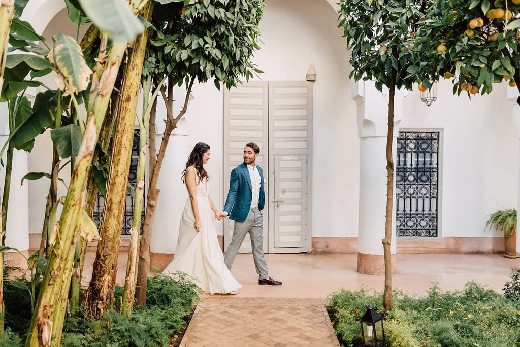 Elopement wedding Marrakech marriage Riad Berbere