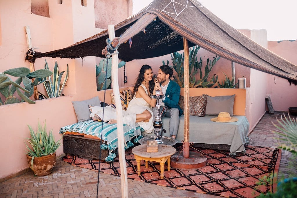 Elopement wedding Marrakech marriage Riad BE