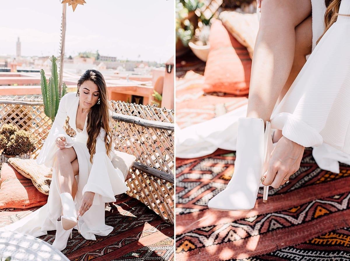 wedding marriage marrakech planner riad le jardin secret bride dress