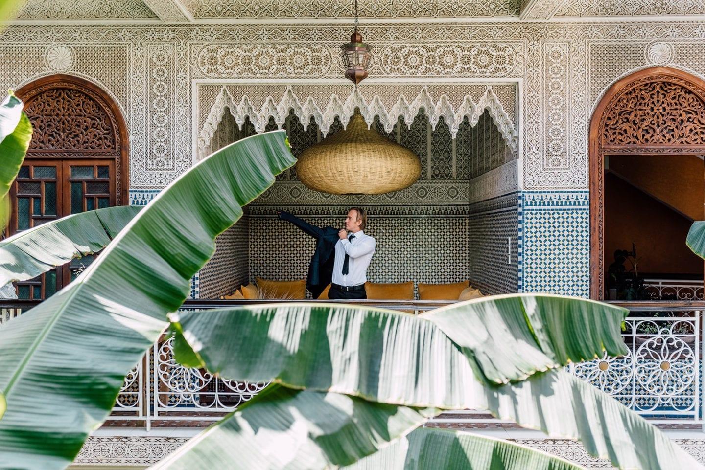 wedding marriage marrakech planner le jardin secret groom