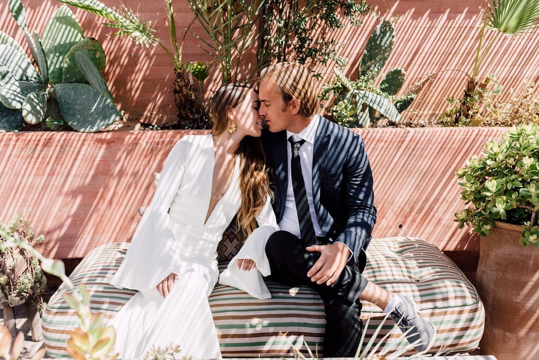 wedding marriage marrakech planner riad le jardin secret kiss