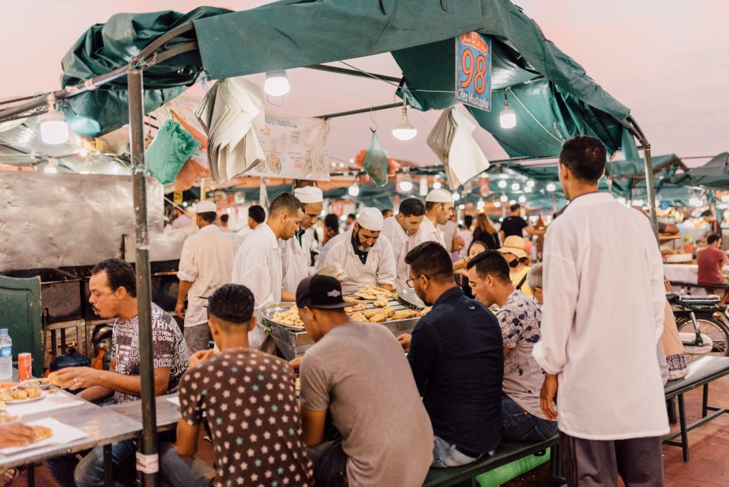 workation business retreat marrakech hotspot street food djemaa el fna market